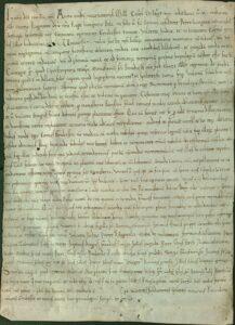 Dokument iz Zbirke latinskih isprava