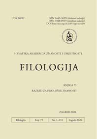 Filologija : časopis Razreda za filološke znanosti Hrvatske akademije znanosti i umjetnosti.