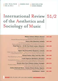 International review of the aesthetics and sociology of music.
