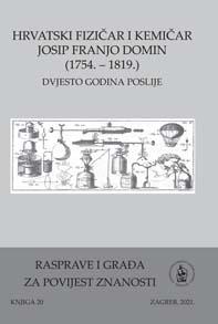 Hrvatski fizičar i kemičar Josip Franjo Domin (1754. – 1819.), dvjesto godina poslije