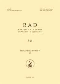 Rad Hrvatske akademije znanosti i umjetnosti. Matematičke znanosti.